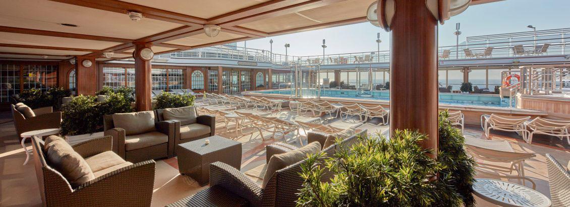Cunard Queen Elizabeth Pool Deck